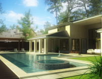 3D Exterior Renderings/ Pools