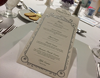 Banquet menu cards