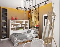 Визуализация спальни. Visualization bedrooms
