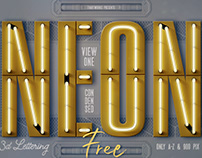 Free Condensed Neon 3D Lettering