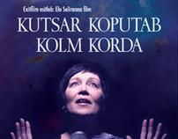 "Movie poster, postcard, cd ""Kutsar koputab kolm korda"""