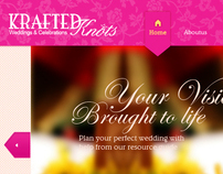 Krafted Knots web Page Design