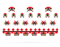 Space invaders a la rus [ + business cards ]