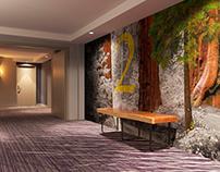"Visualization of the ""Mariott"" hotel corridor"