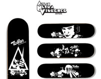 Ultra Violence. Aztlan Skateboards
