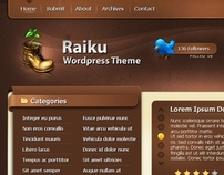 Raiku Wordpress Template