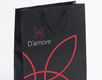D'amore. Creating brand for women's underwear. Russia