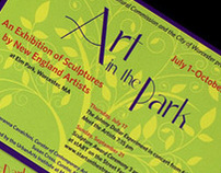 Art in the Park Invitation and Guide