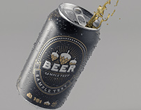 Beer Can 3D Test Render