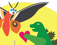 Gojira {hearts} Mothra