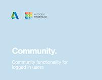 Tinkercad Community Notifications UX/UI