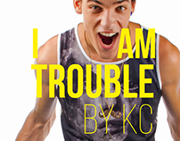 I AM TROUBLE Brand identity and product print designs