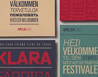 EURO / Festival de música - Sistema tipográfico