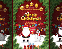 Merry Christmas Greeting Flyer PSD