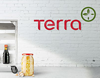 TERRA, visual identity of a healthy food store