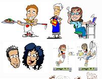 Caricature cartoon design