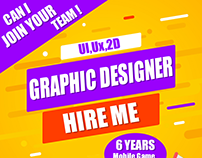 Need Graphic designer Job