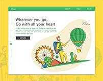UI for a travel website