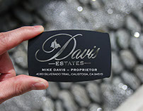 Custom Shaped Black Metal Business Card