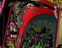 Zombie Boba Fett in the Ol' Sarlacc Pit