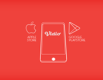 Infographic commercial for vidio