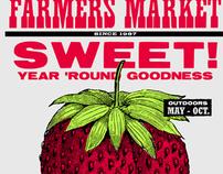 SWEET! Letterpress Market Poster