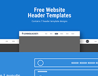 7 Free Website Header Templates