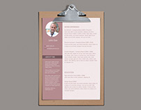 Free Modern Word Resume Template
