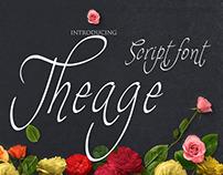Free Font - Theage Script Font