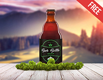 Beer Bottle 2 - Free PSD Mockup