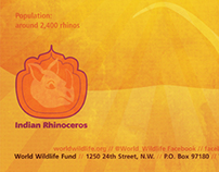 Logo and Poster for The Indian Rhinoceros / WWF