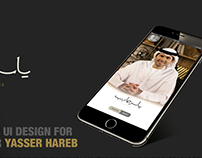 Mobile UI for Yasser Hareb
