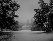 Winter sentiments (black and white)
