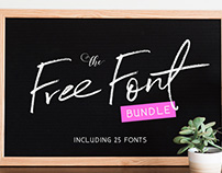 Free Font Bundle: 25 Fonts Worth $279!