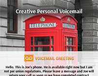 Voicemail greeting samples on behance creative voicemail greeting sample m4hsunfo