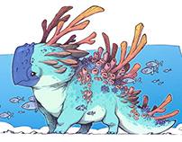 Coral Parrot - creature design