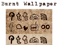 Burnt Wallpaper Social Icon Set