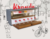 Krasula Pierogi Bar brand development