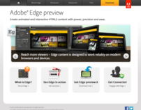 Adobe Edge Microsite