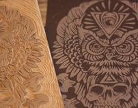 Totem of Wisdom - Block Print