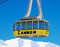 Cannon Ski Resort New Hampshire Poster
