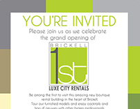 Brickell First Corporate Identity & Opening Invite