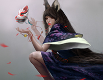 Kitsune ( the fox woman )