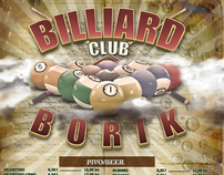 Billiard club Borik ~ Price flyer