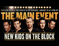 "New Kids On The Block - ""The Main Event"" national tour"