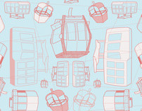 Contemporary Sarong Print: Cable Cars