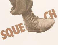 Squelch onomatopoeia poster