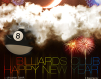 Billiard Club Borik ~  New Years poster