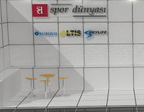 Spor Dünyası Fuar Dizaynı ve Görsel Çalışması
