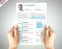 Free PSD : Clean and Elegant Resume Template PSD